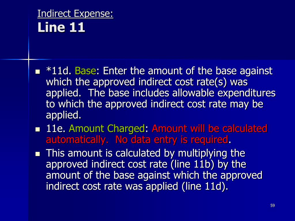 Indirect Expense: