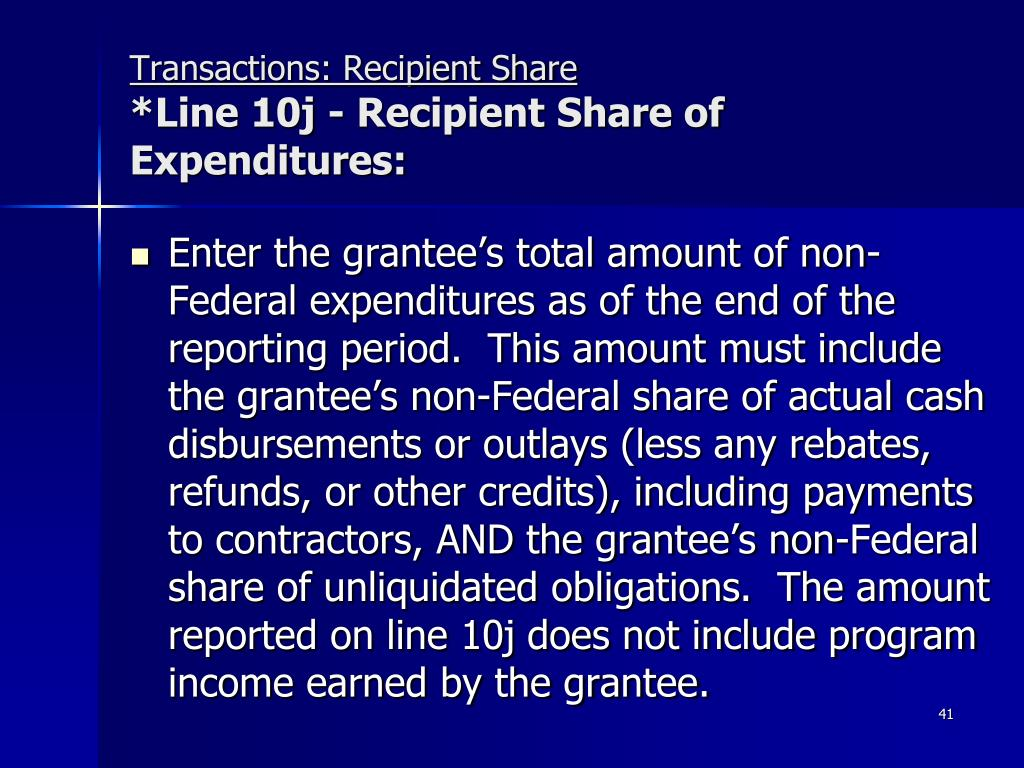 Transactions: Recipient Share