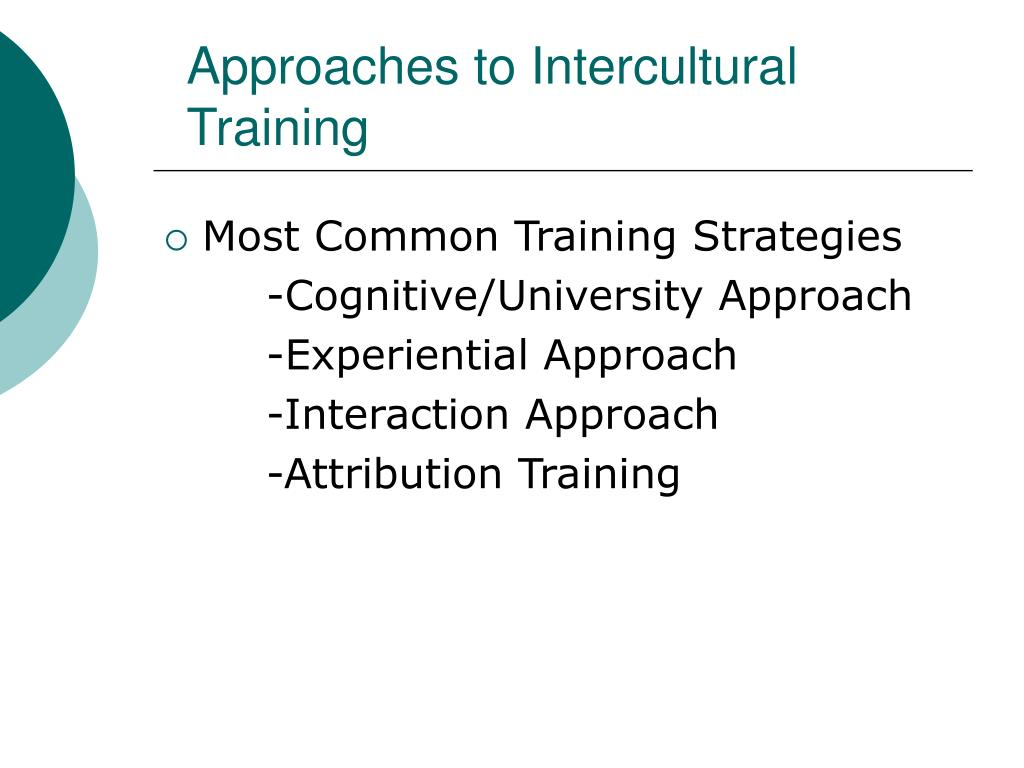 Approaches to Intercultural Training
