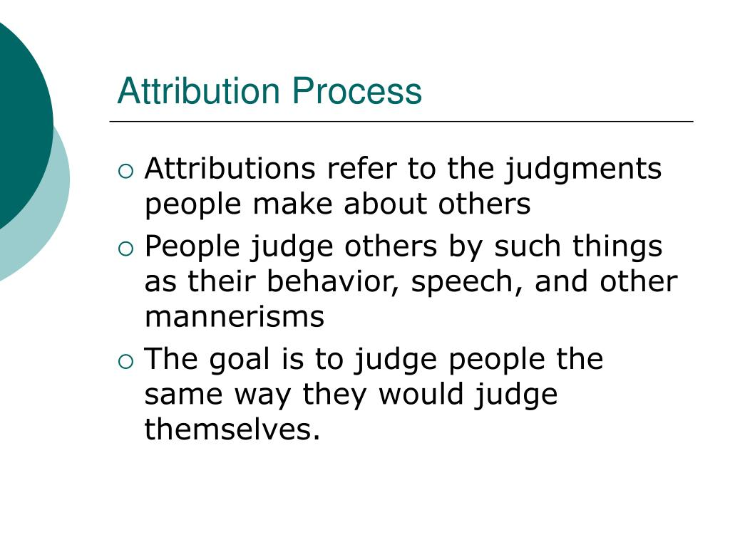 Attribution Process