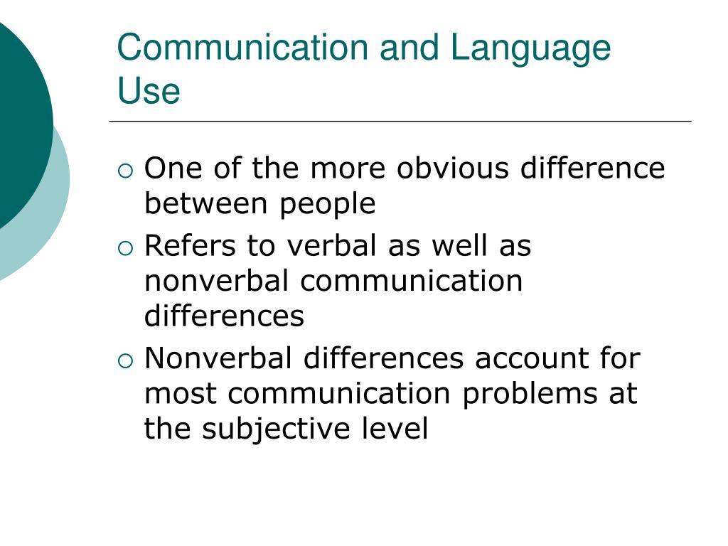 Communication and Language Use