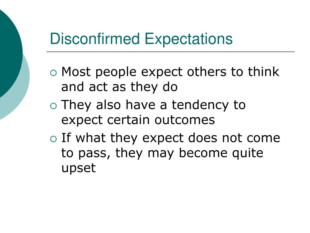 Disconfirmed Expectations