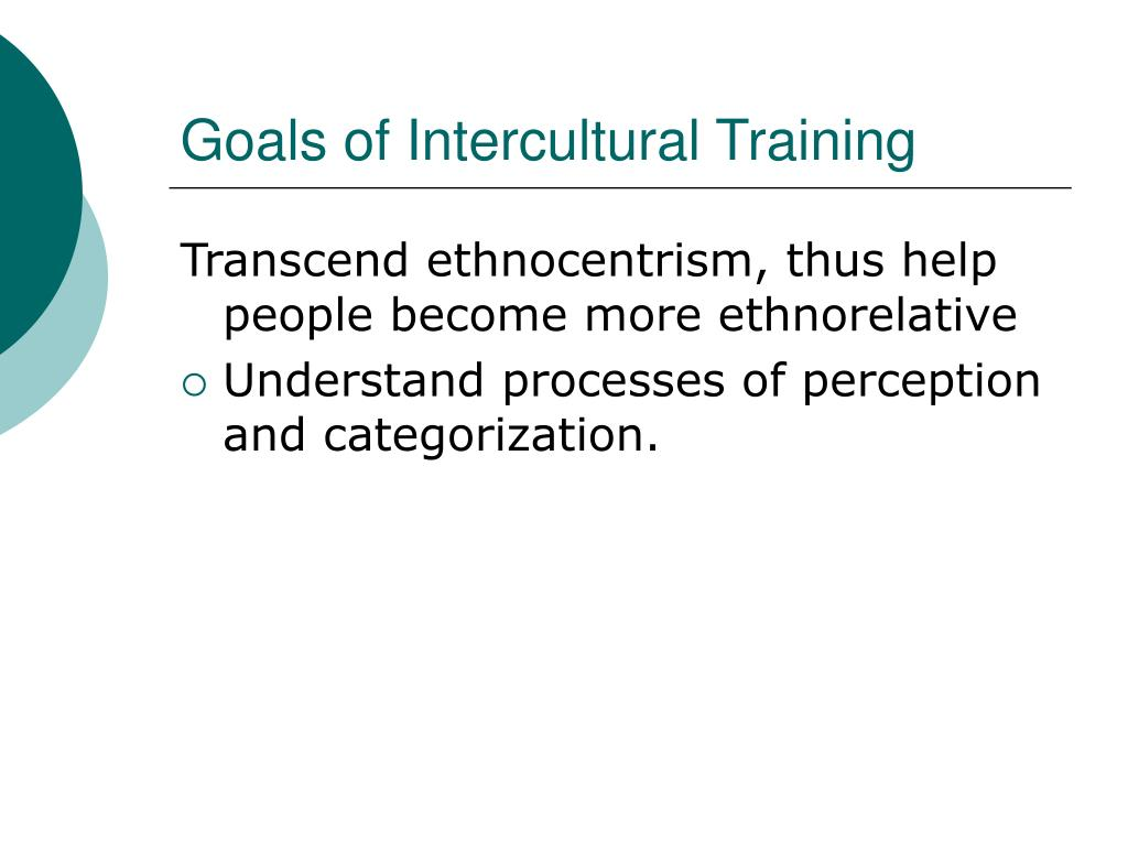 Goals of Intercultural Training