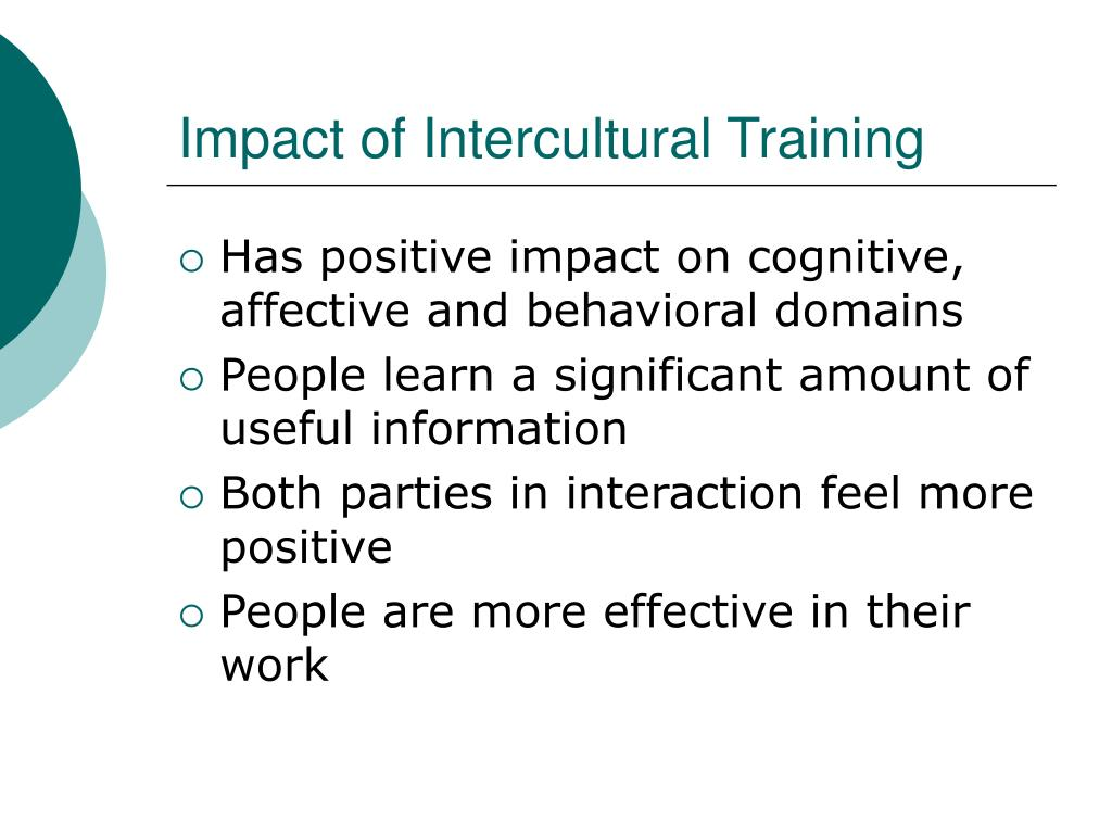 Impact of Intercultural Training