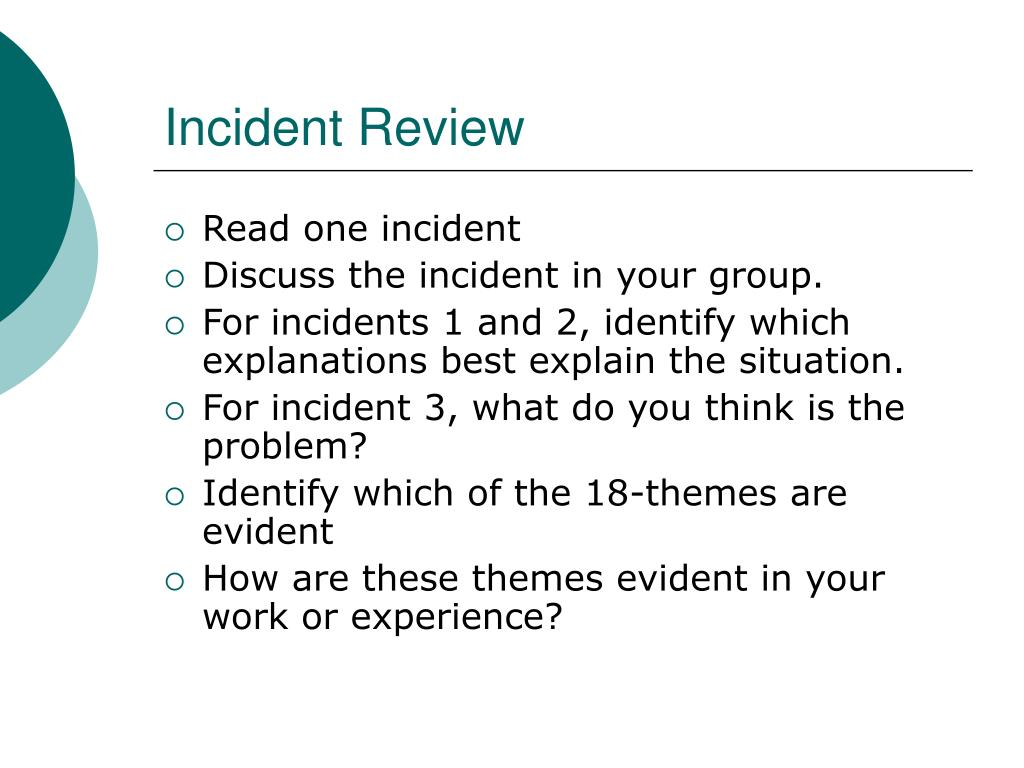 Incident Review