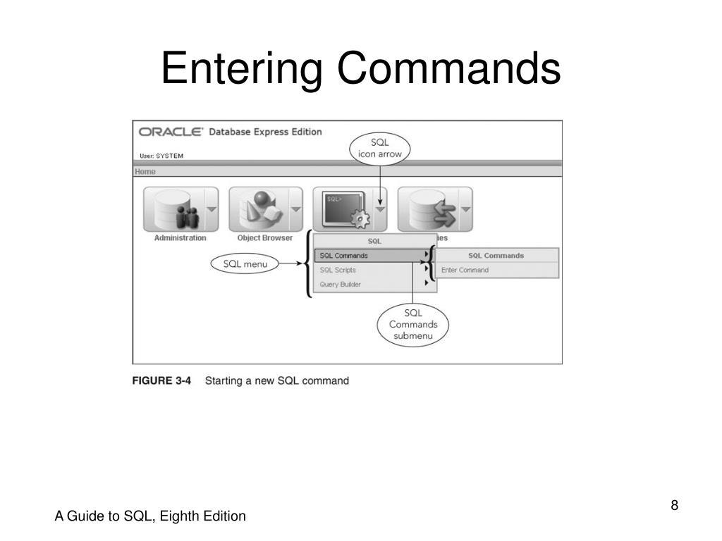 Entering Commands
