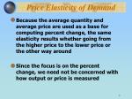 price elasticity of demand7