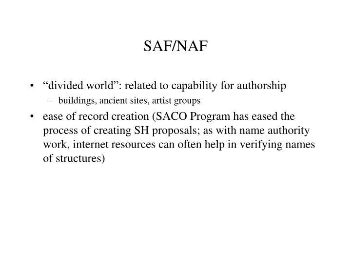 SAF/NAF