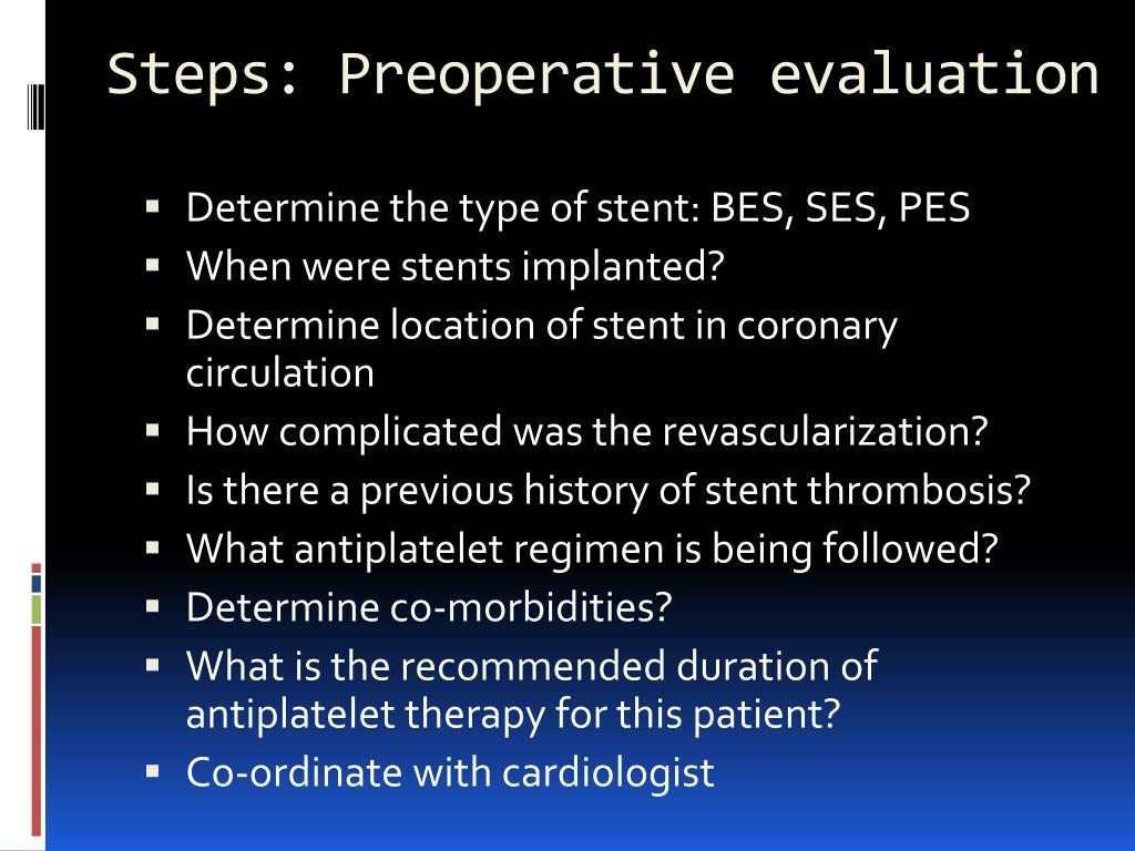 Steps: Preoperative evaluation