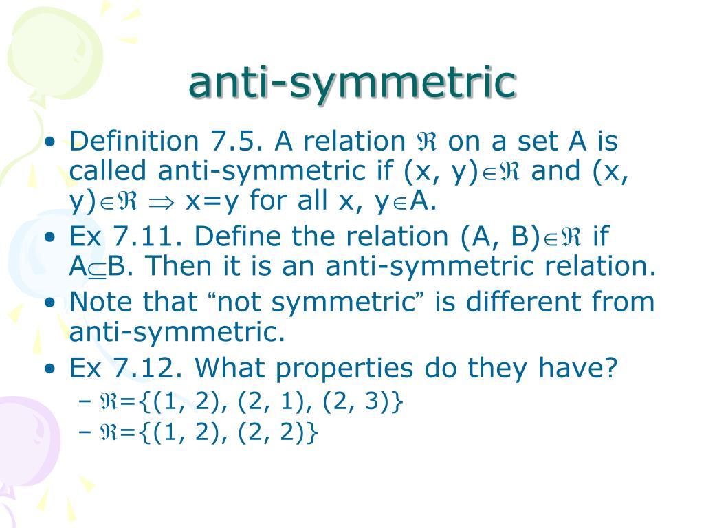 anti-symmetric