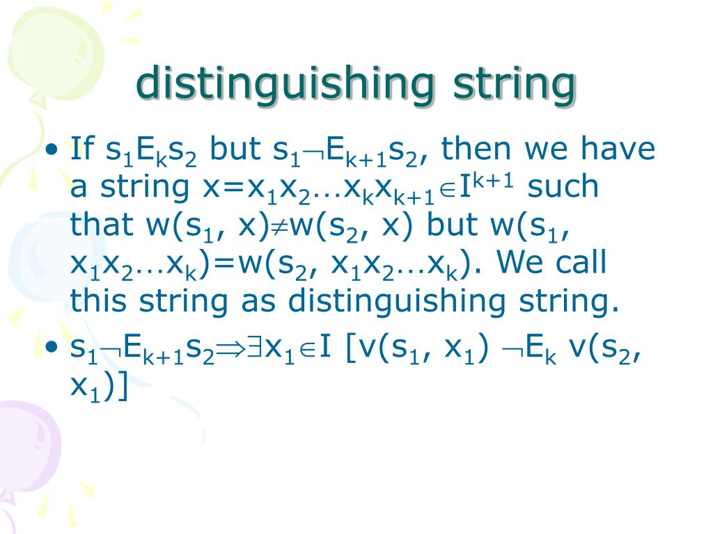 distinguishing string