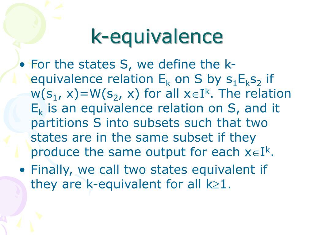 k-equivalence