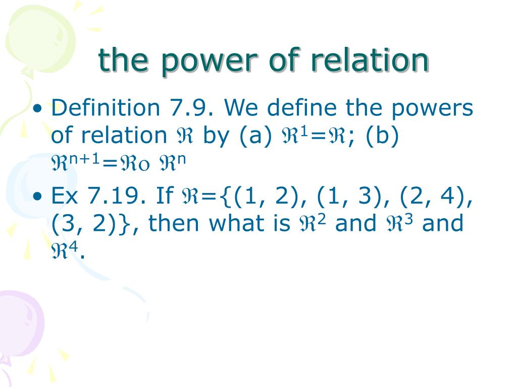 the power of relation