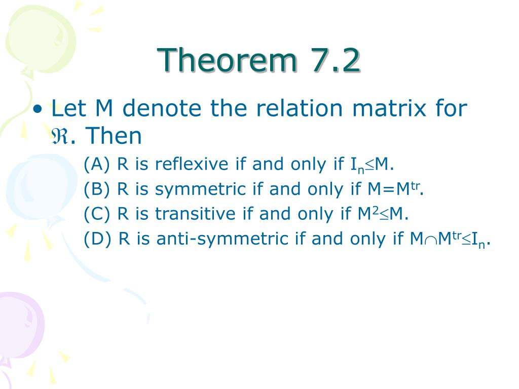 Theorem 7.2