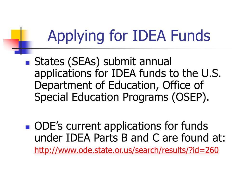 Applying for IDEA Funds