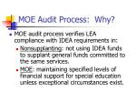 moe audit process why