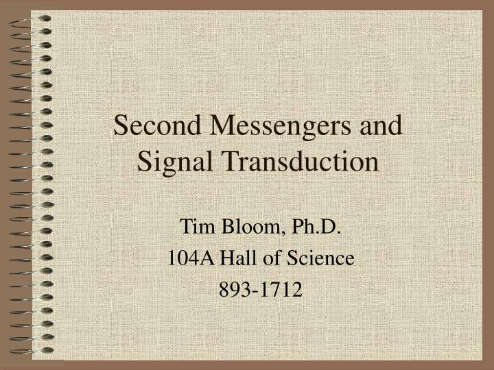 Second messengers and signal transduction l.jpg