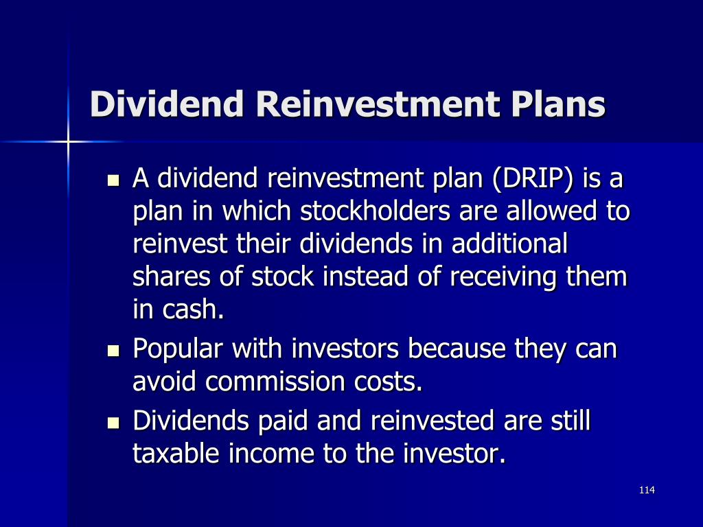 Dividend Reinvestment Plans
