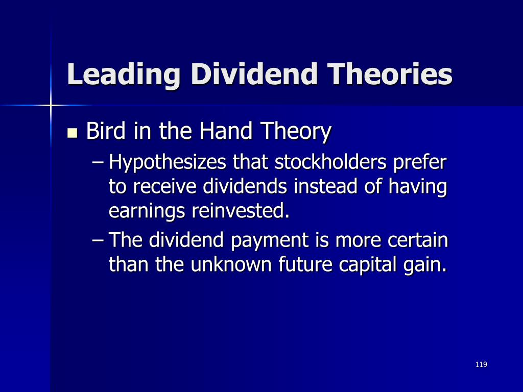 Leading Dividend Theories
