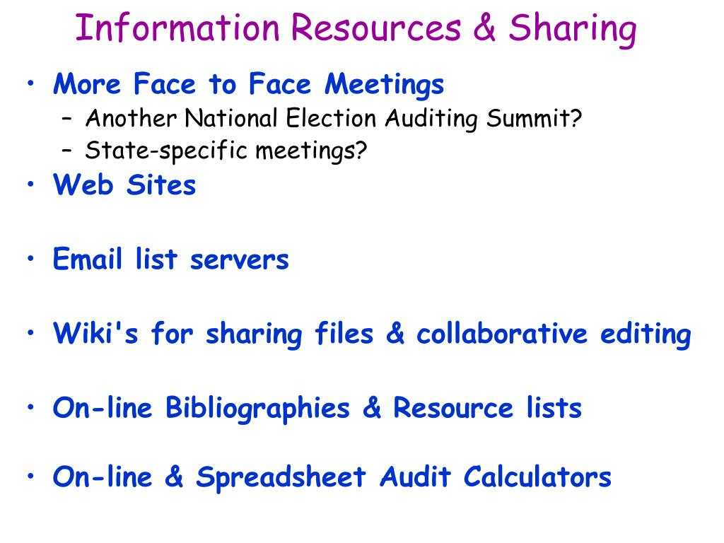 Information Resources & Sharing