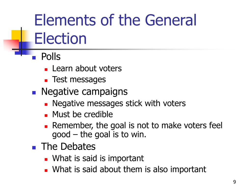 Elements of the General Election