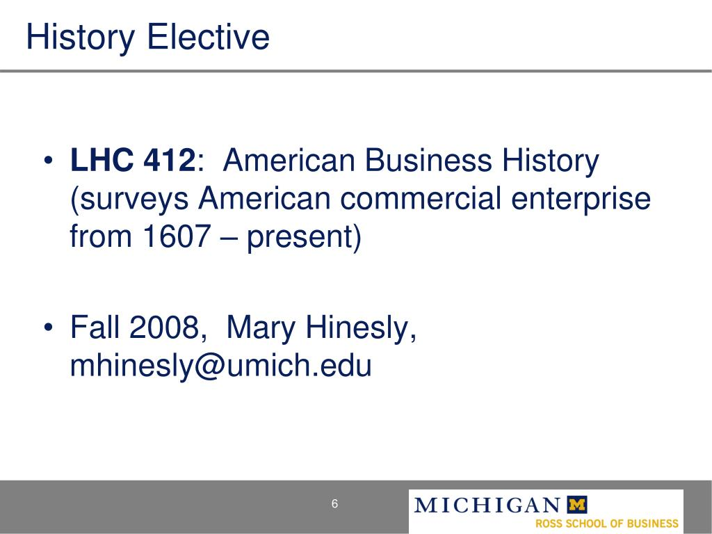 History Elective