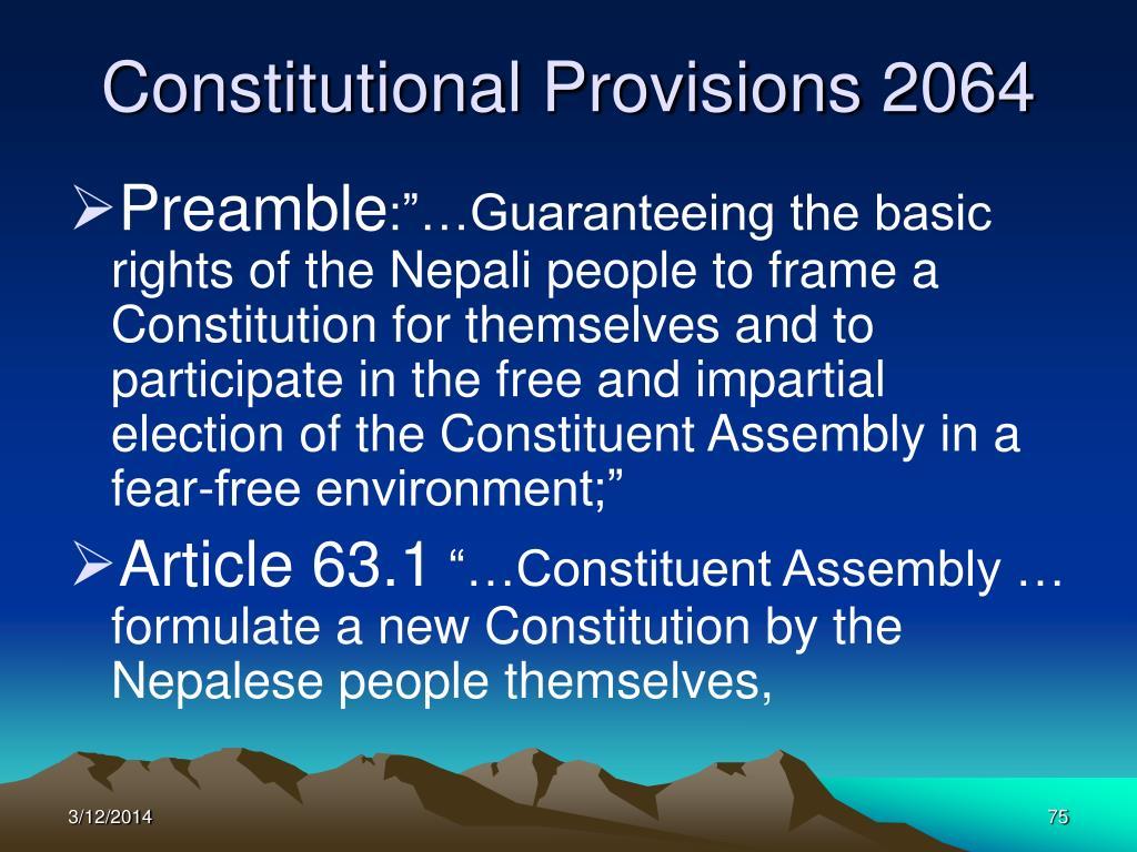 Constitutional Provisions 2064