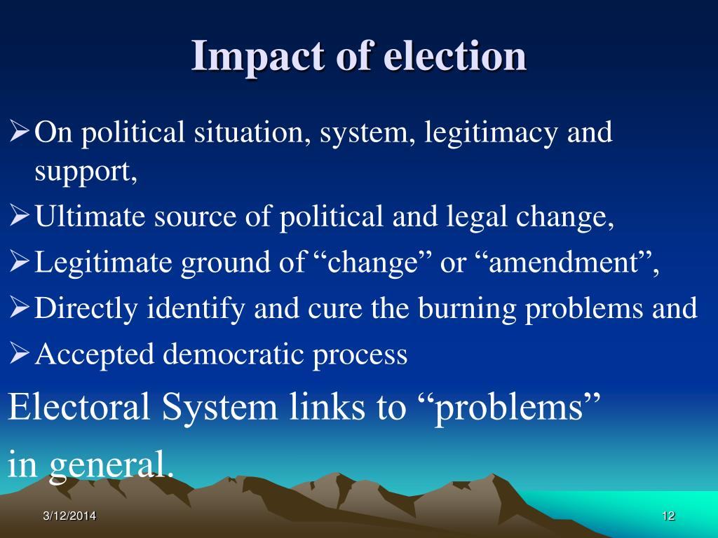 Impact of election