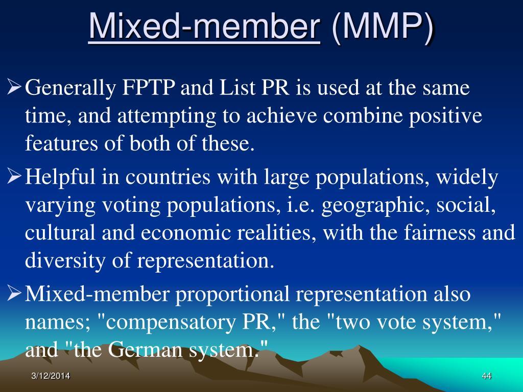 Mixed-member
