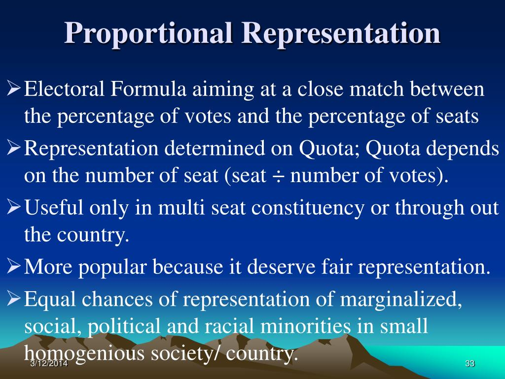 Proportional Representation