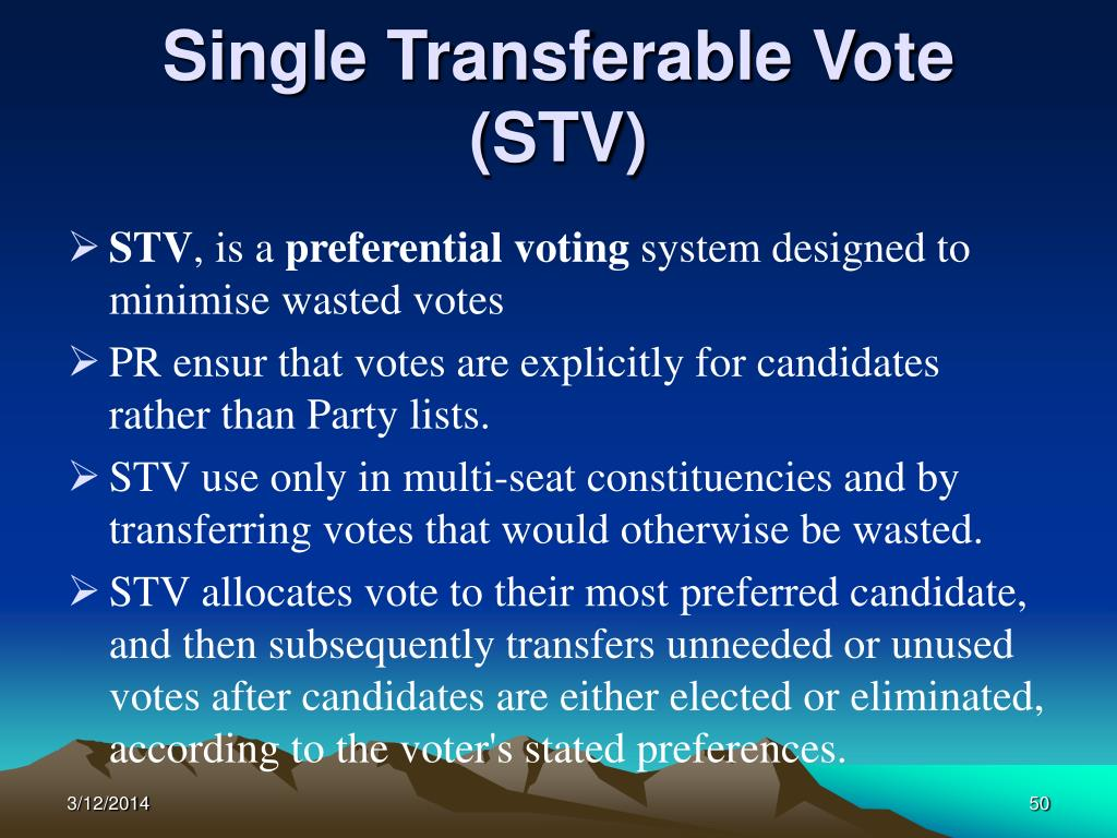Single Transferable Vote (STV)