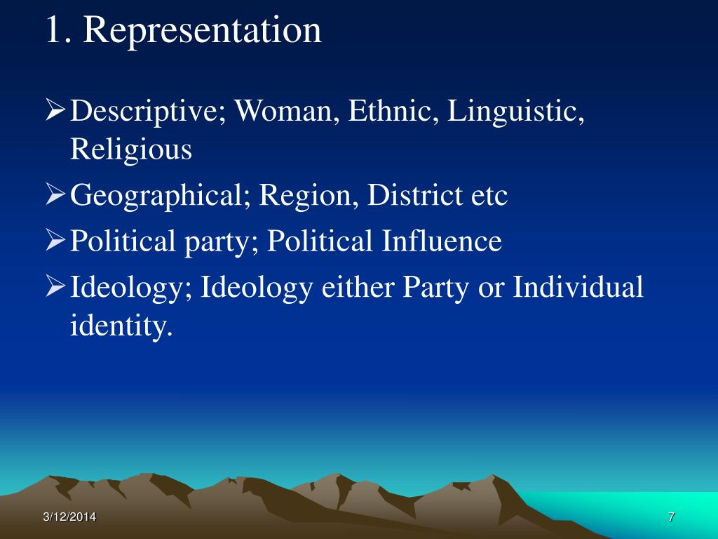 1. Representation