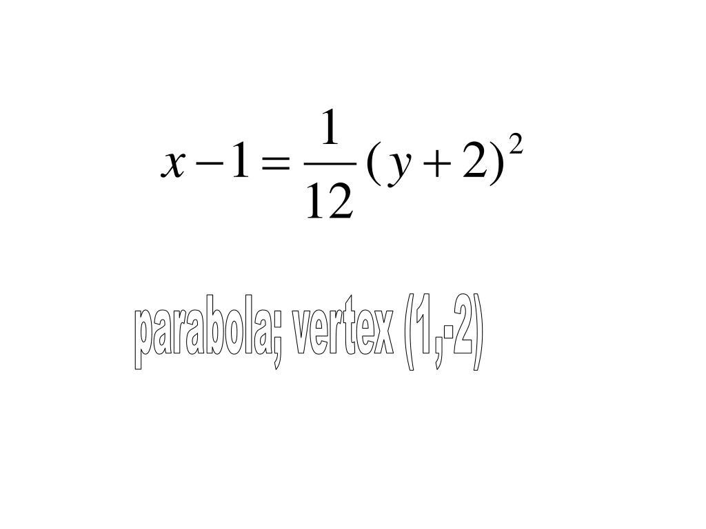 parabola; vertex (1,-2)