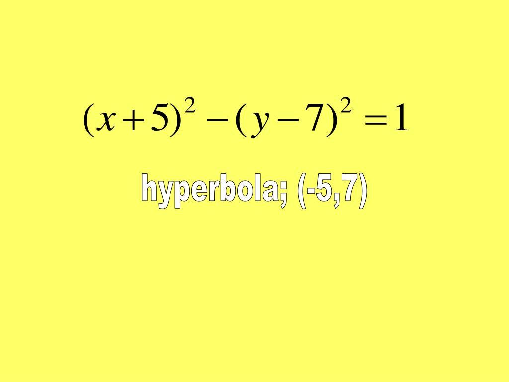 hyperbola; (-5,7)