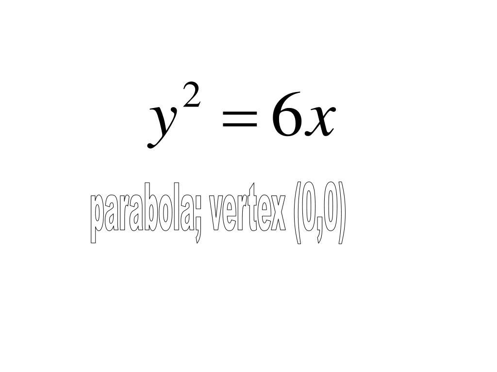 parabola; vertex (0,0)