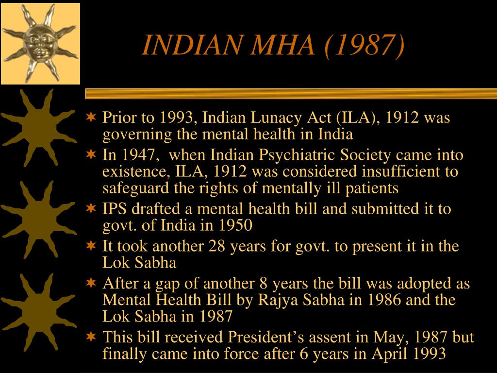 INDIAN MHA (1987)