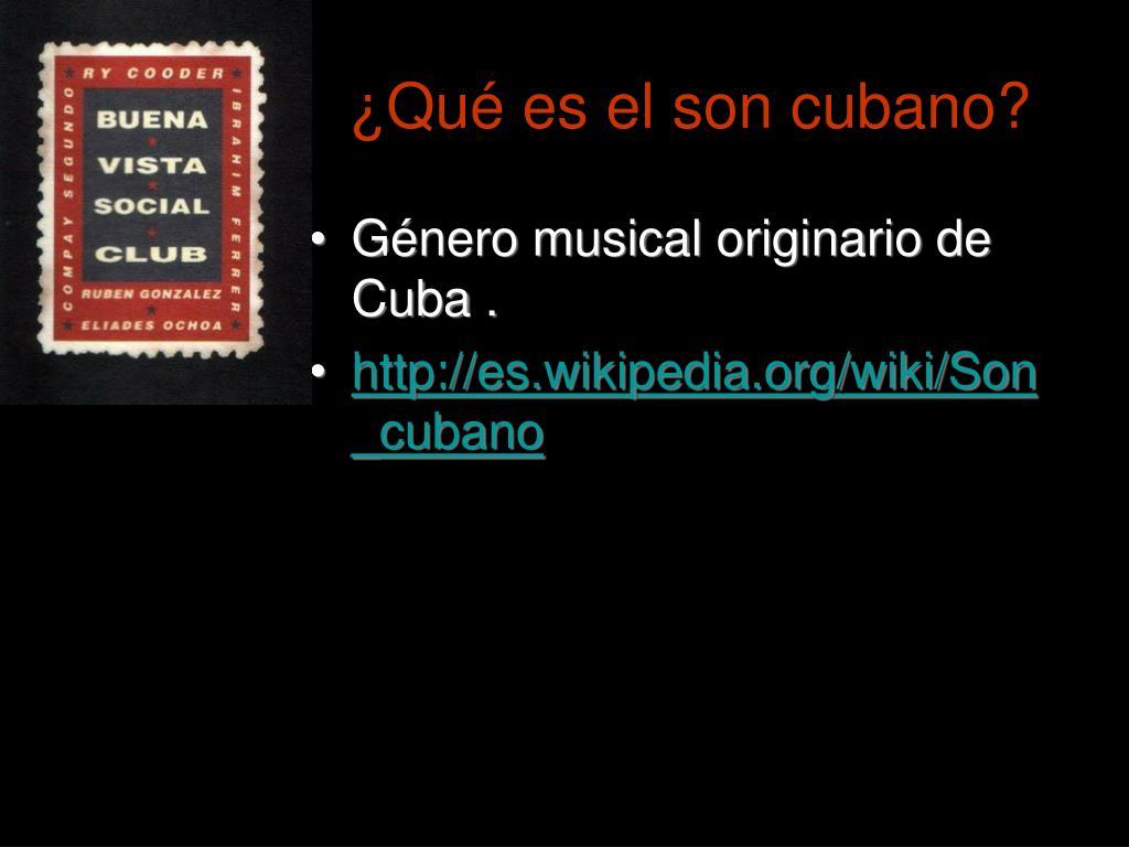 ¿Qué es el son cubano?