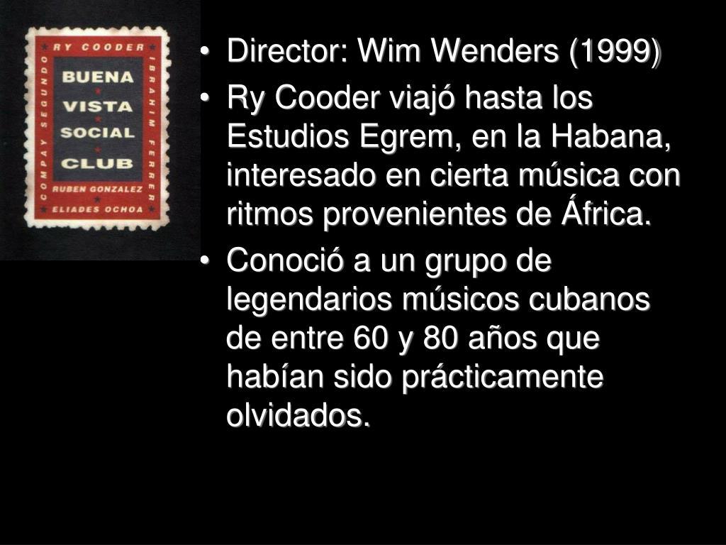 Director: Wim Wenders (1999)
