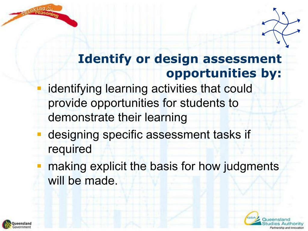 Identify or design assessment opportunities
