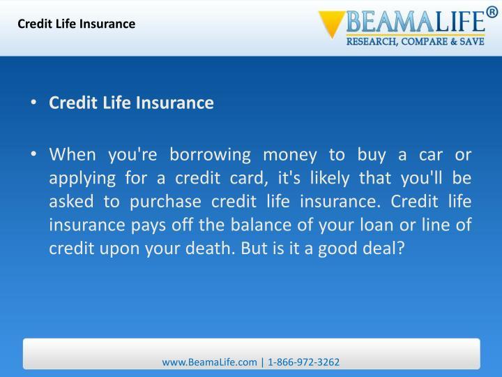 Credit Life Insurance