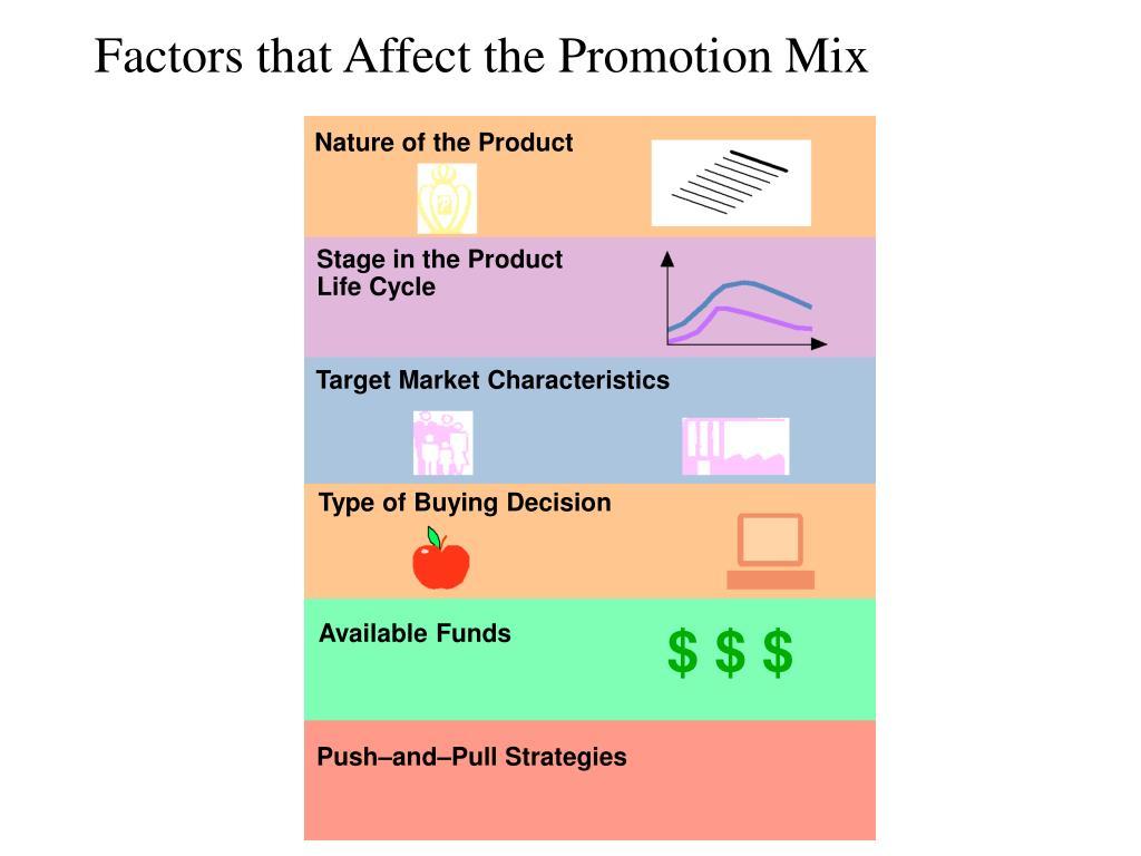 Factors that Affect the Promotion Mix