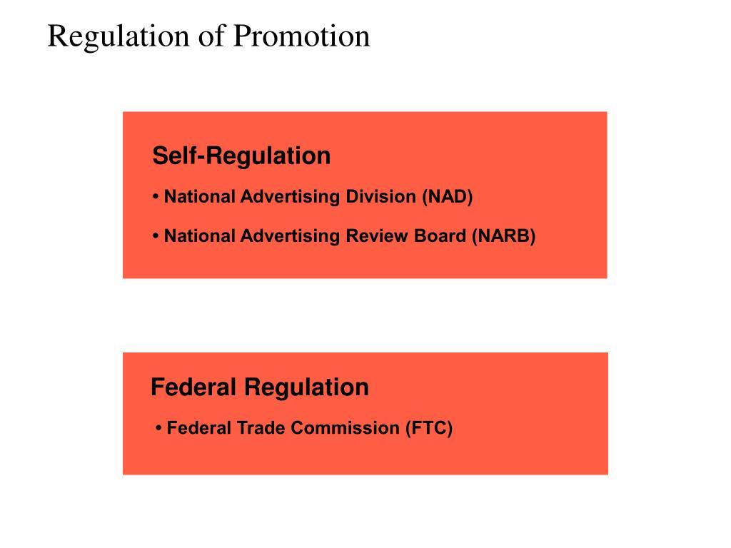 Regulation of Promotion