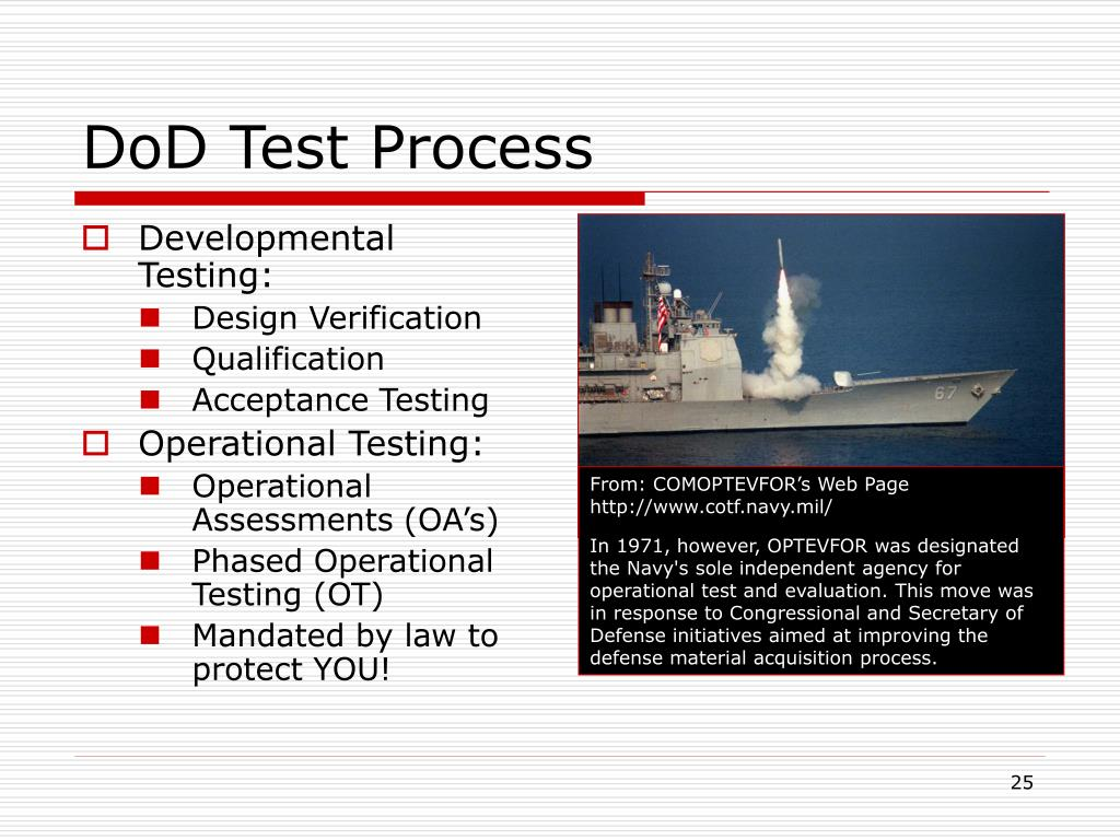 DoD Test Process