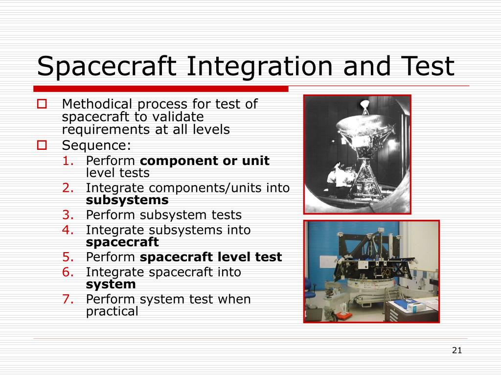 Spacecraft Integration and Test