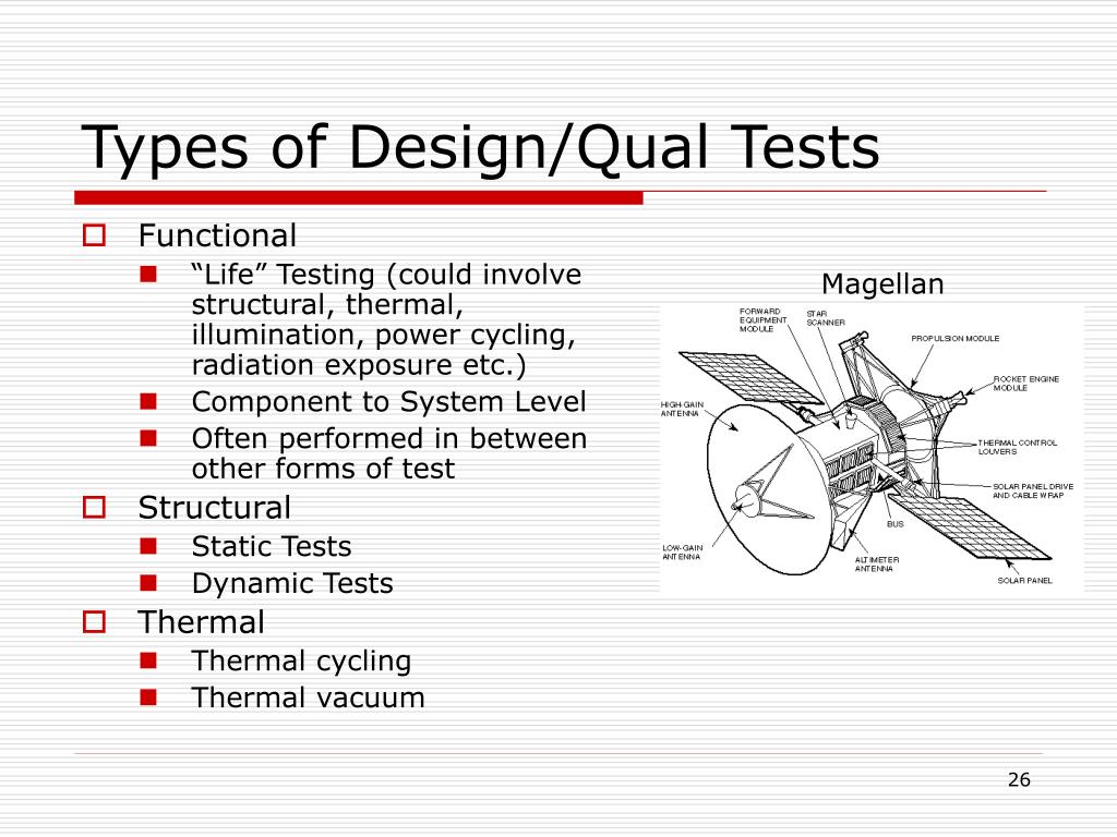 Types of Design/Qual Tests