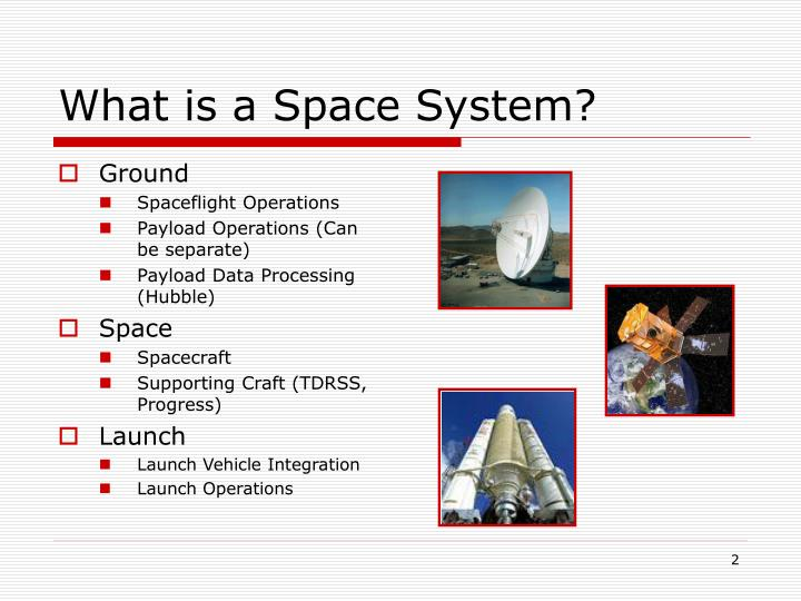 What is a space system