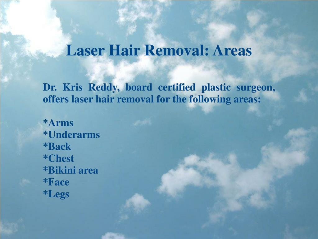 Laser Hair Removal: Areas