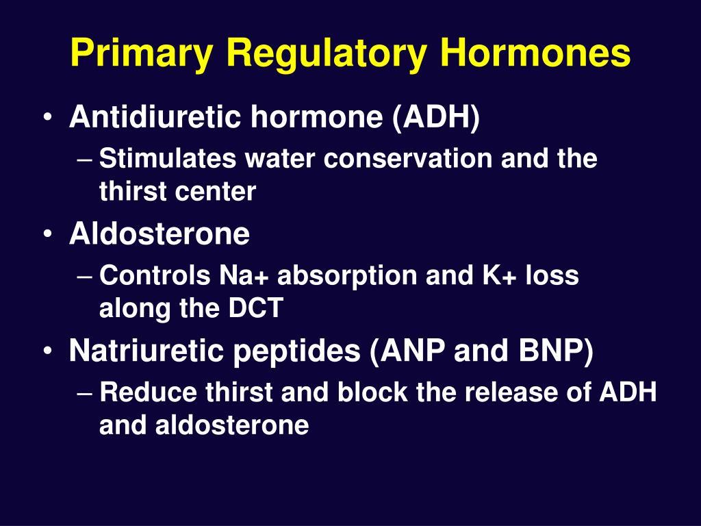 Primary Regulatory Hormones