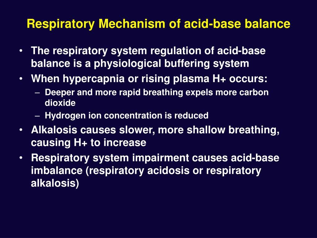 Respiratory Mechanism of acid-base balance