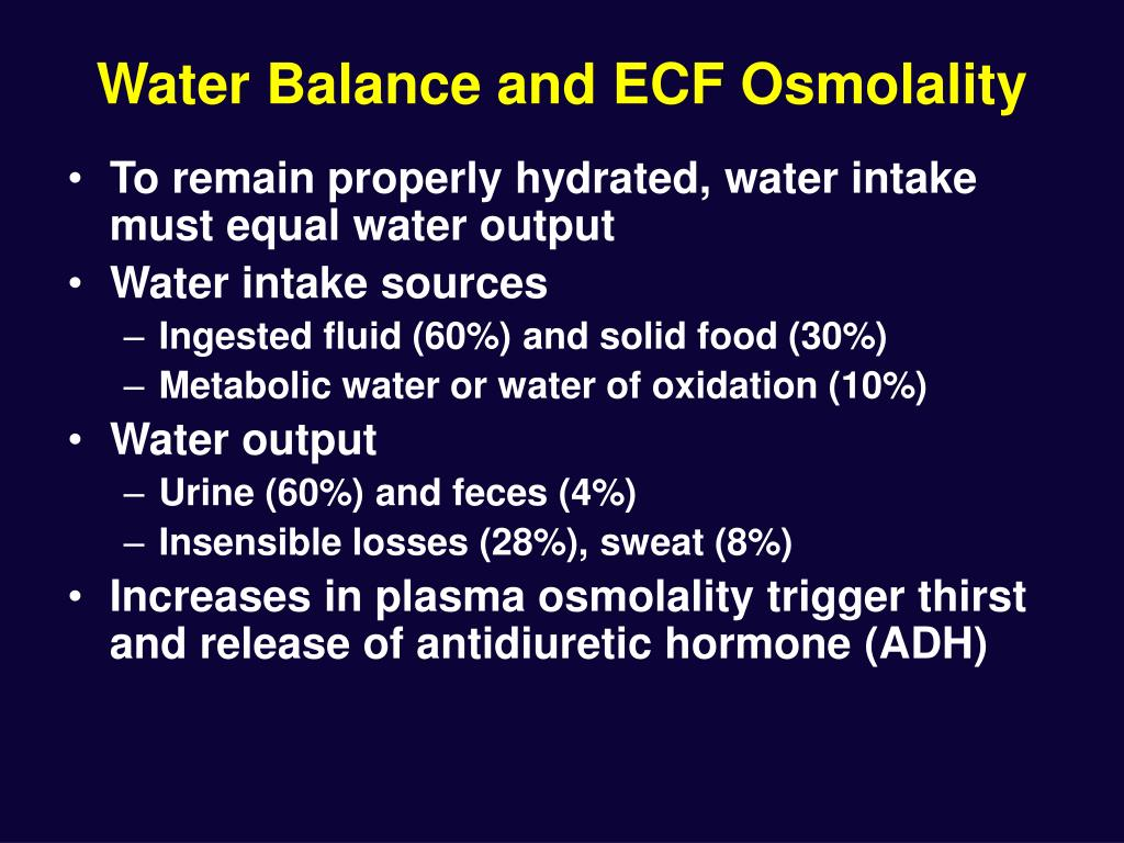 Water Balance and ECF Osmolality